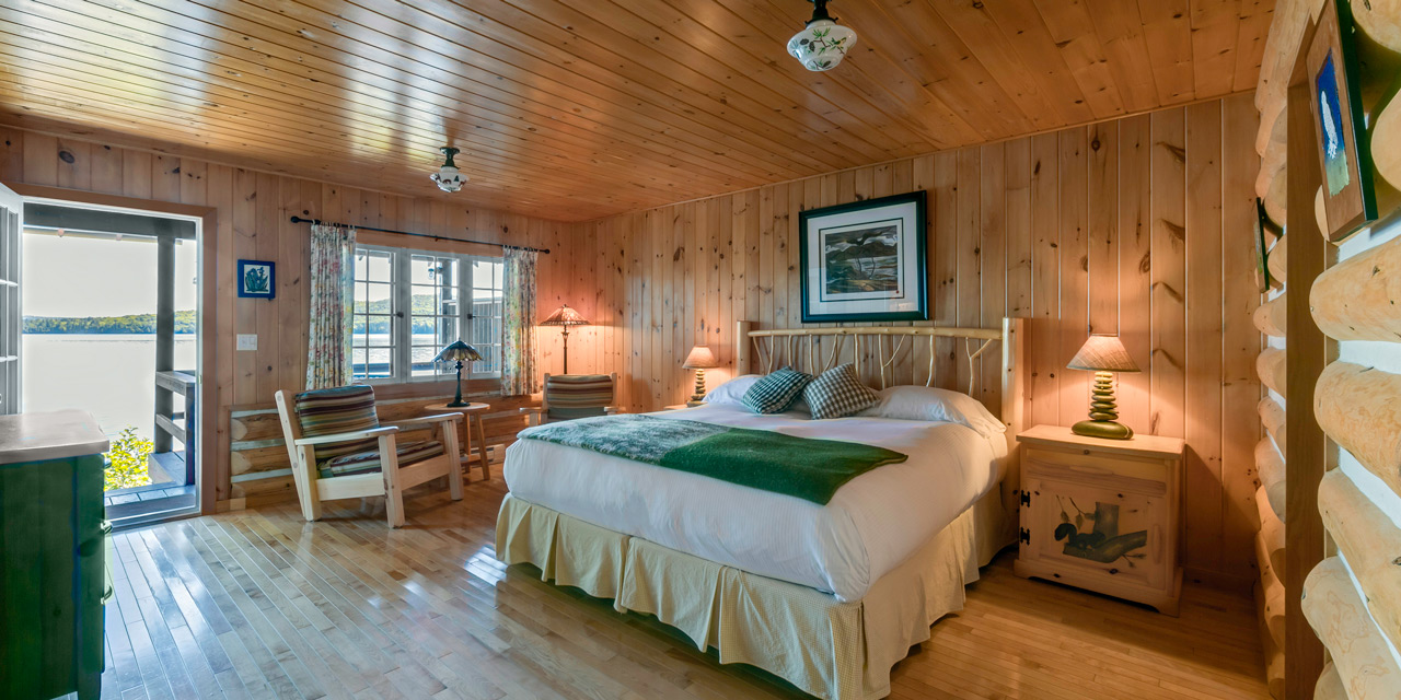 cabin picture postcard lake view