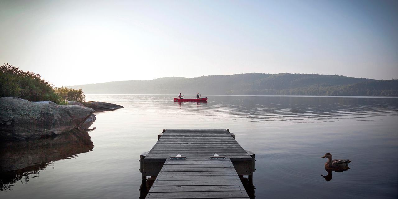 canoe paddle dawn in ontarion resort