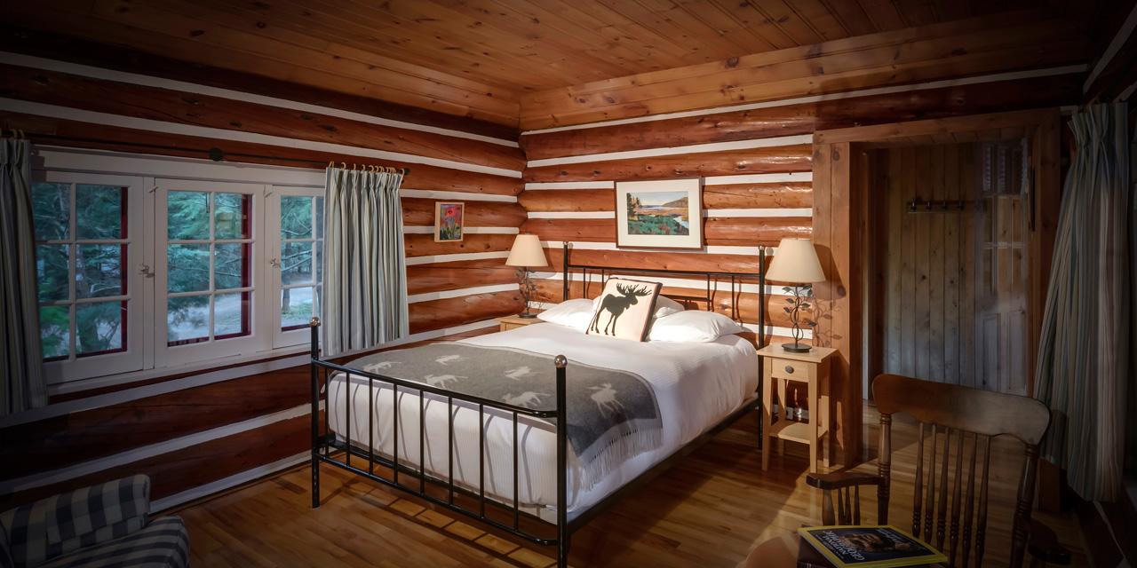 comfortable rest in log cabin algonquibn resort