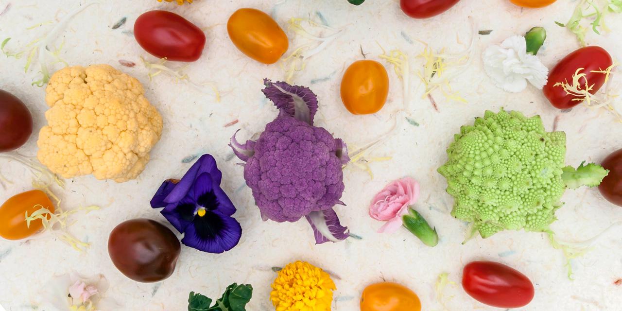 fresh fruit vegetables for dining time