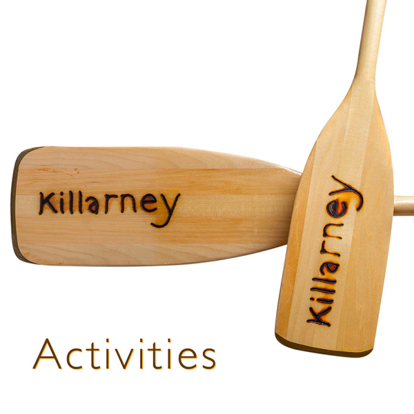 activities at killarney lodge canoe paddles